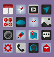 set of social media buttons for design - ic vector image vector image
