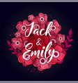 spring wedding background with beautiful flowers vector image vector image