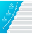Stairs Step Banner Infographic Template vector image vector image