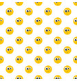 surprised smile pattern seamless vector image vector image