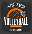 t-shirt print with volleyball ball for sport team vector image vector image