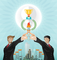 Teamwork for successful business vector image vector image
