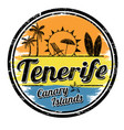 tenerife sign or stamp vector image vector image