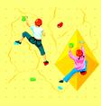 Wall climbing kids vector image vector image