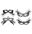 Veneto masquerade masks with lace luxury pattern vector image