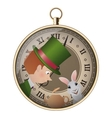 Alice in Wonderland Mad tea party Hatter and vector image