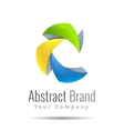 abstract business icon Corporate branding vector image vector image