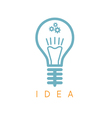abstract icon design template of lamp bulb vector image vector image