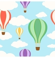 Air balloons in the sky Seamless pattern vector image