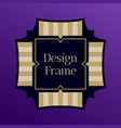 art frame for text template of design frame vector image vector image