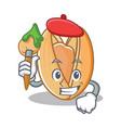 artist pistachio nut character cartoon