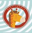 baby shower card with cute jiraffe vector image vector image