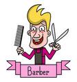 barber vintage label badge or emblem on white vector image