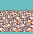 big group rabbits pets animal and sky vector image vector image