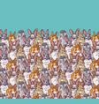 big group rabbits pets animal and sky vector image