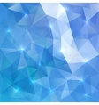Blue abstract shining ice background vector image vector image