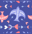 boho style flying swallow seamless pattern with vector image