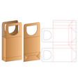 box packaging die cut template design 3d mock-up vector image