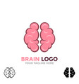 brain logo brainstorm think idea logo brain icon vector image vector image