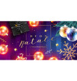 buon natale e felice anno nuovo card merry vector image
