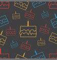 cake seamless pattern background vector image