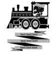calavera-train vector image vector image