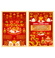 chinese new year symbols greeting card vector image