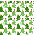 christmas trees seamless pattern new year vector image vector image