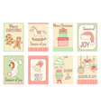 collection of christmas banners in retro style vector image
