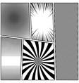 comic monochrome template vector image vector image