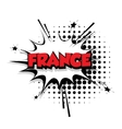 Comic text France sound effects pop art vector image vector image