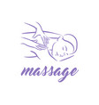 concept of massage body relax vector image vector image