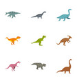 different dinosaur icons set flat style vector image vector image