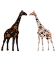 Dotted giraffe vector image