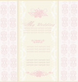 elegant wedding invitation vector image vector image