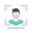 face recognition concept face recognition concept vector image