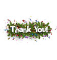 festive thank you background vector image vector image