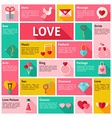 Flat Design Icons Infographic Love Concept vector image vector image