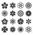 flower icons set on white background vector image vector image