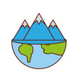 global mountain ecology natural environment vector image