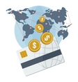 global payment card vector image vector image