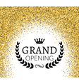 grand opening ceremony background golden dust vector image vector image