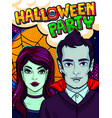 halloween vampire and witch vector image vector image