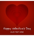 heart happy valentines day vector image vector image