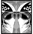 helmet with eyeglasses cafe racer vector image vector image