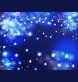 holiday illumination bulb garland realistic vector image