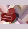 interior with armchair vector image vector image