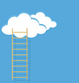 Ladder sky and clouds vector image