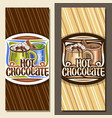 layouts for hot chocolate vector image vector image