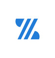 letter z modern logo isolated on white background vector image vector image